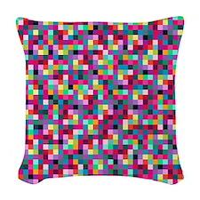Pixels Woven Throw Pillow