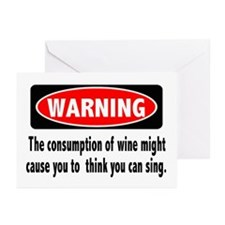 Wine Warning Greeting Cards (Pk of 10)