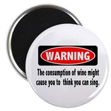 Wine Warning Magnet