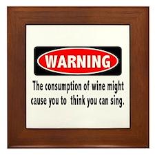 Wine Warning Framed Tile