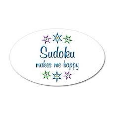 Sudoku Happy 20x12 Oval Wall Decal