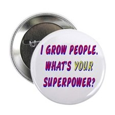 Superhero Mom Button