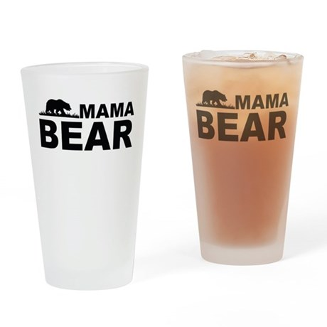 Mama Bear Drinking Glass