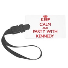 Keep calm and Party with Kennedy Luggage Tag