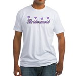 Bridesmaid Hearts Fitted T-Shirt