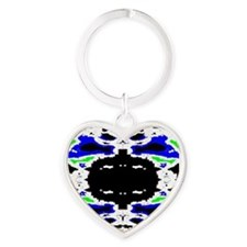 Cute Radiation Heart Keychain