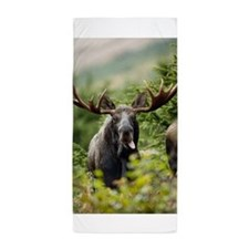Moose in the Wild Beach Towel