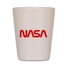 NASA Worm Logo Shot Glass