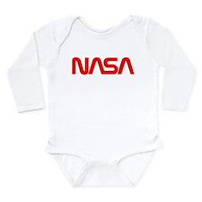 NASA Worm Logo Long Sleeve Infant Bodysuit