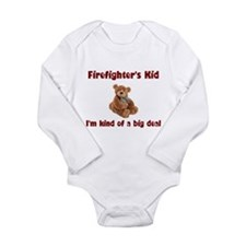 Funny Firefighter Long Sleeve Infant Bodysuit