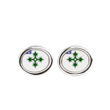47 Infantry crest.psd.png Oval Cufflinks
