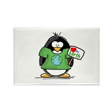 Cute Penguin love Rectangle Magnet