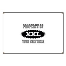 Personalize Property Of XXL Banner