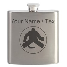 Custom Hockey Goalie Circle Flask