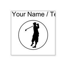 Custom Golfer Circle Sticker