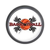 Tribal Basketball Wall Clock