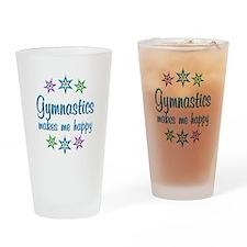 Gymnastics Happy Drinking Glass