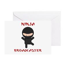 Ninja Broadcaster Greeting Card