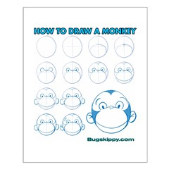 How to Draw a Monkey Posters