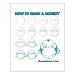 How to Draw a Monkey Small Poster