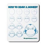 How to Draw a Monkey Mousepad