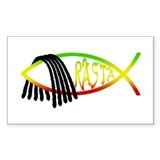 Rasta Fish Rectangle Decal