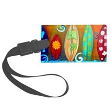 Funny Surfboards Luggage Tag