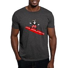 Boston Terrier Longboard Surfer T-Shirt