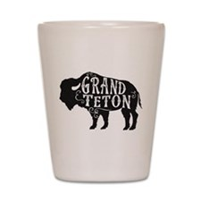 Grand Teton Buffalo Shot Glass