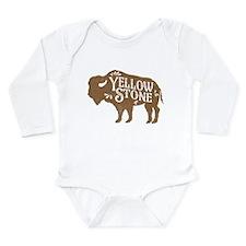 Yellowstone Buffalo Long Sleeve Infant Bodysuit