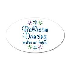 Ballroom Happy 20x12 Oval Wall Decal