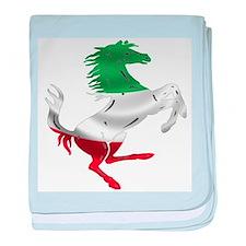 Italian Stallion Italy Flag baby blanket