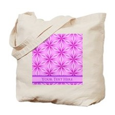 Pink Floral Pattern Personalized Tote Bag