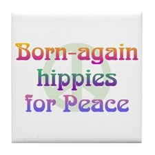 Born-Again Hippies Tile Coaster