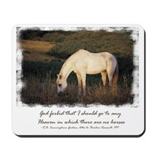 White Horse Mousepad