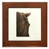 Neglected horse Framed Tile