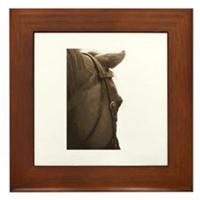 Neglected horse Framed Tile