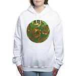 Faberge's Jewels - Green Women's Hooded Sweatshirt