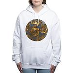 Faberge's Jewels - Grey Women's Hooded Sweatshirt