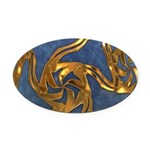 Faberge's Jewels - Blue Oval Car Magnet