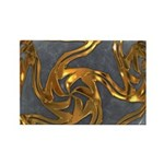 Faberge's Jewels - Grey Rectangle Magnet (10 pack)