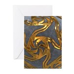 Faberge's Jewels - Grey Greeting Cards (Pk of 10)