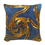 Faberge's Jewels - Blue Woven Throw Pillow