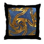 Faberge's Jewels - Blue Throw Pillow