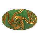 Faberge's Jewels - Green Sticker (Oval 50 pk)