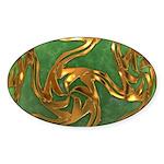 Faberge's Jewels - Green Sticker (Oval 10 pk)
