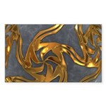 Faberge's Jewels - Grey Sticker (Rectangle 10 pk)