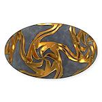 Faberge's Jewels - Grey Sticker (Oval 10 pk)