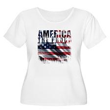 America Proud Plus Size T-Shirt