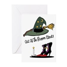 Out of the Broom Closet Greeting Cards (Package of